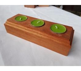 Svícen na tři čajové svíčky